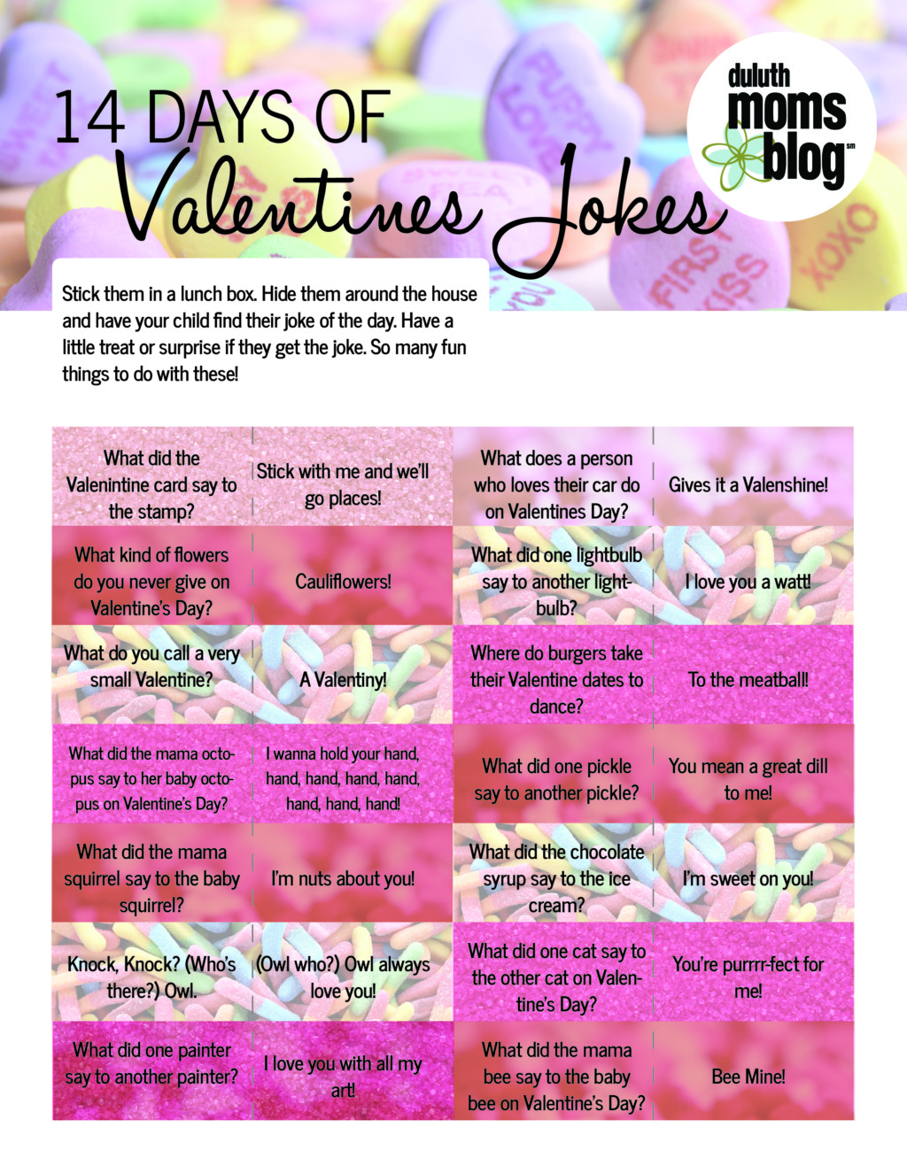 14 days of valentines | Duluth Moms Blog